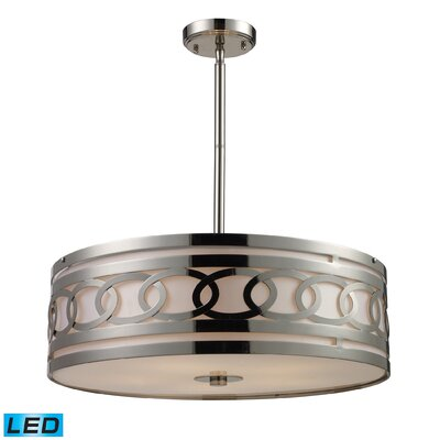 Kohut 5-Light Drum Pendant Bulb Type: LED
