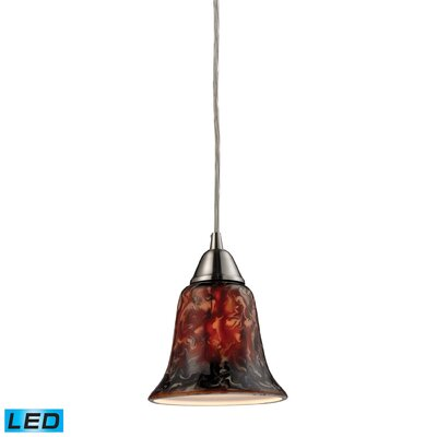 Vuelta 1-Light Mini Pendant Finish: Satin Nickel, Bulb Type: LED