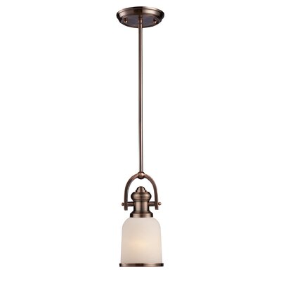 Boornazian 1-Light Mini Pendant Finish: Antique Copper