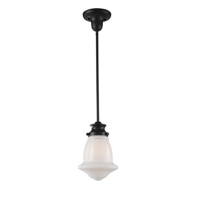 Stokes 1-Light Stokes Pendant Finish: Satin Nickel, Size: 12