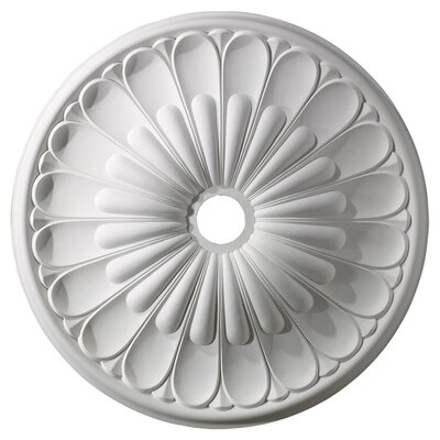 Melon Reed Ceiling Medallion Finish: White