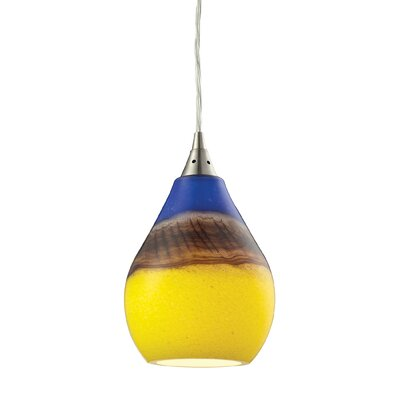 Dunes 1-Light Mini Pendant Shade Color: Sunscape