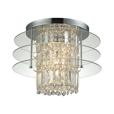 Lavina 3-Light Flush Mount Shade Color: Clear