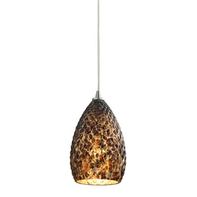 Geval 1-Light Mini Pendant Finish: Satin Nickel