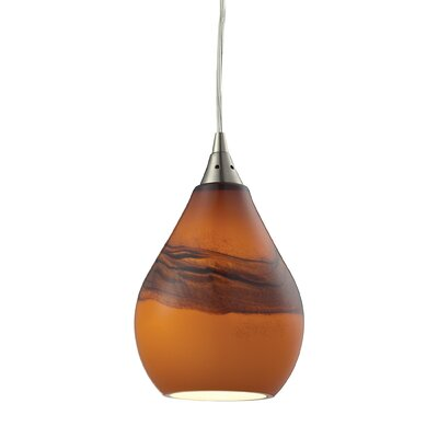 Dunes 1-Light Mini Pendant Shade Color: Shadow