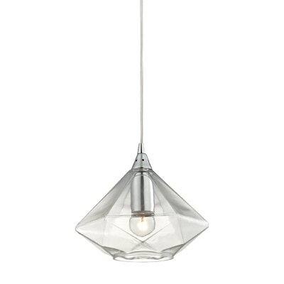 Trumbauer Geometrics 1-Light Mini Pendant Finish: Polished Chrome