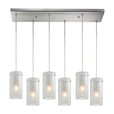 Synthesis 6-Light Kitchen Island Pendant Shade Color: Clean