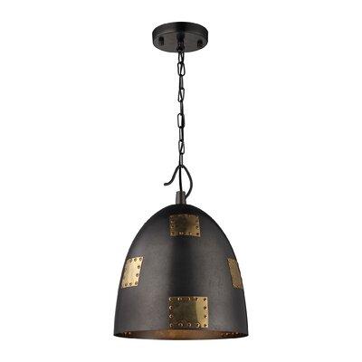 Crantor 1-Light Bowl Pendant Size: 16 H x 12 W x 12 D