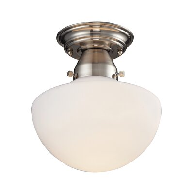 Schoolhouse 1-Light Semi Flush Mount