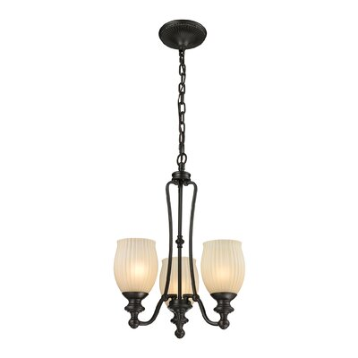 Hamman 3-Light Shaded Chandelier