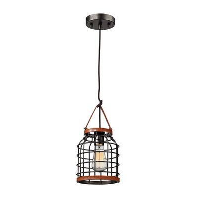Purcell 1-Light Foyer Pendant Size: 13 H x 7 W x 7 D