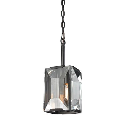Dionte 1-Light Glass Shade Foyer Pendant