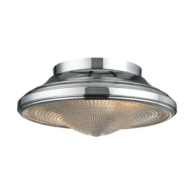 Urbano 2-Light Flush Mount Finish: Polished Chrome