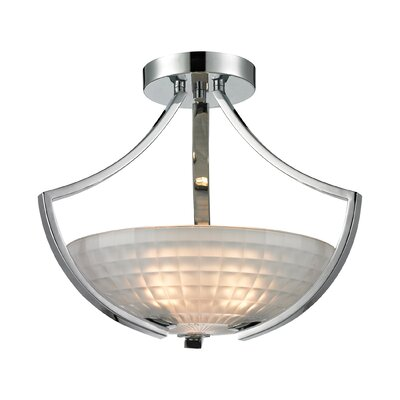 Weedman 3-Light Semi Flush Mount