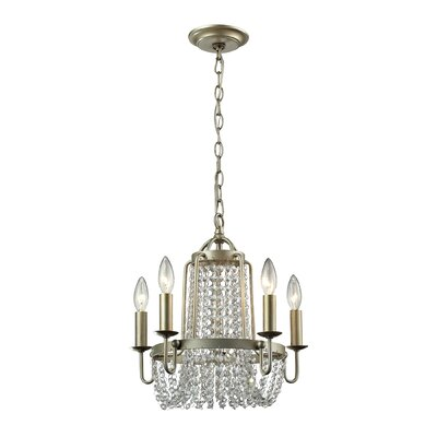Chandette 5-Light Crystal Chandelier Finish: Aged Silver