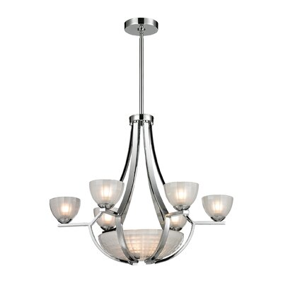 Sculptive 9-Light Shaded Chandelier