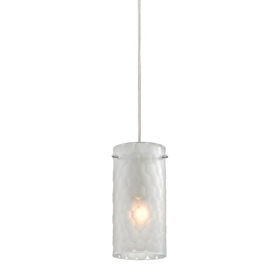 Mellott 1-Light Mini Pendant Shade Color: Clean