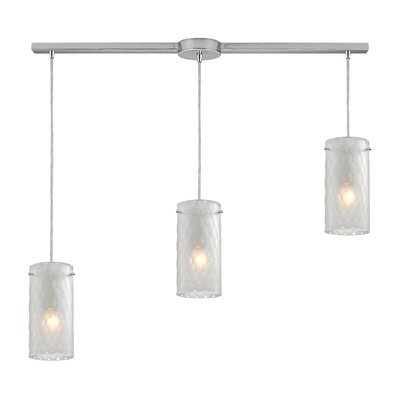 Synthesis 3-Light Kitchen Island Pendant Shade Color: Clean