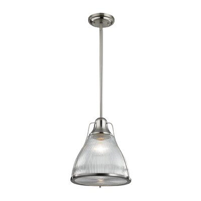 Crown Heights 1-Light Mini Pendant Color: Brushed Nickel