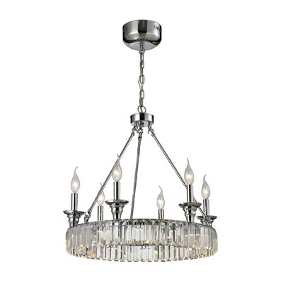 Korth 6-Light Candle-Style Chandelier