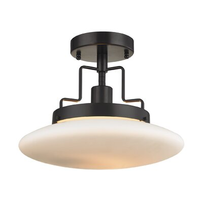 Anza 1-Light Semi Flush Mount Finish: Oil Rubbed Bronze
