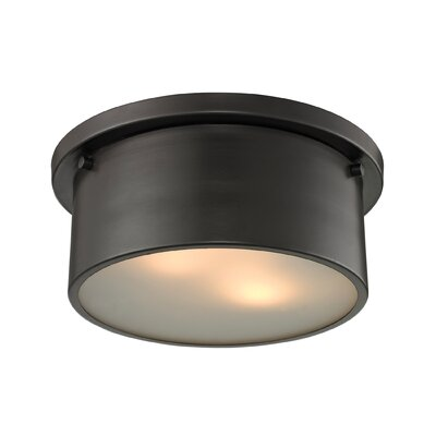 Simpson 2-Light Flush Mount Finish: Oil Rubbed Bronze