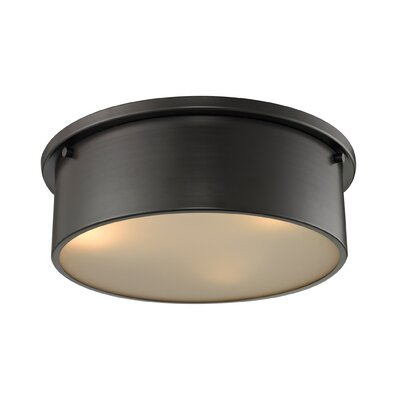 Simpson 3-Light Flush Mount Finish: Oil Rubbed Bronze