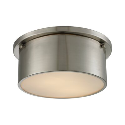 Simpson 2-Light Flush Mount Finish: Brushed Nickel