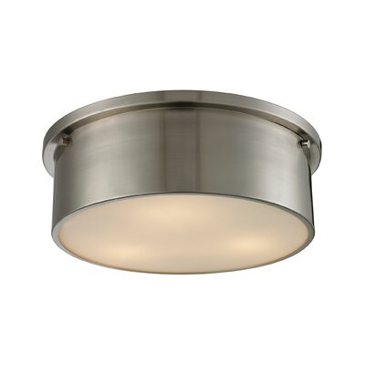 Simpson 3-Light Flush Mount Finish: Brushed Nickel