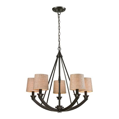 Haught 5-Light Shaded Chandelier