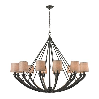 Morrison 12-Light Shaded Chandelier