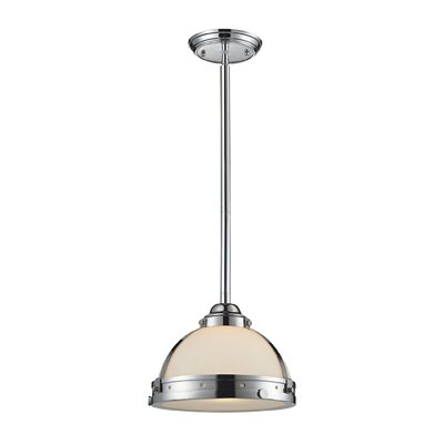 Braiden 1-Light Bowl Pendant Finish: Polished Chrome, Size: 9 H x 12 W x 12 D