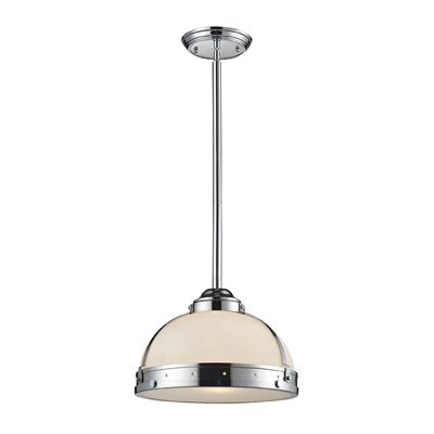Braiden 1-Light Bowl Pendant Finish: Polished Chrome, Size: 12 H x 17 W x 17 D