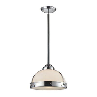 Hamel 1-Light Bowl Pendant Finish: Polished Chrome, Size: 12 H x 17 W x 17 D