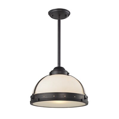 Hamel 1-Light Bowl Pendant Finish: Rubbed Bronze, Size: 12 H x 17 W x 17 D