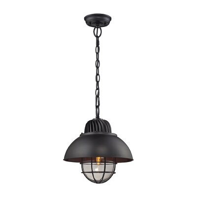 Darby 1-Light Pendant Shade Color: Oil Rubbed Bronze