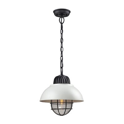 Darby 1-Light Pendant Shade Color: White