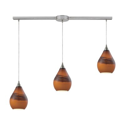 Dunes 3-Light Kitchen Island Pendant Shade Color: Shadow