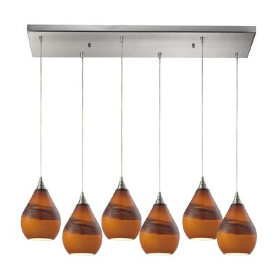 Mellinger 6-Light Kitchen Island Pendant Shade Color: Shadow