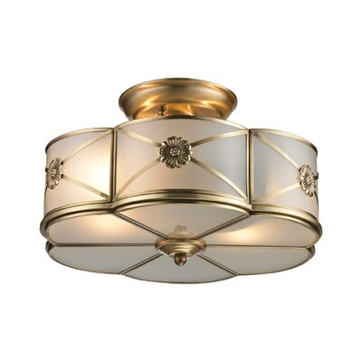Preston 2-Light Semi Flush Mount