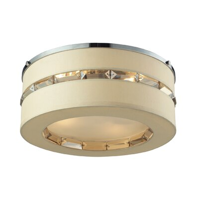 Regis 4-Light Flush Mount Shade Color: Beige