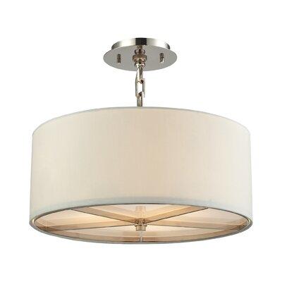 Montross 3-Light Drum Pendant Size: 16 H x 17 W x 17 D