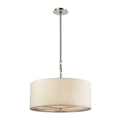 Montross 3-Light Drum Pendant Size: 10 H x 10 W x 10 D