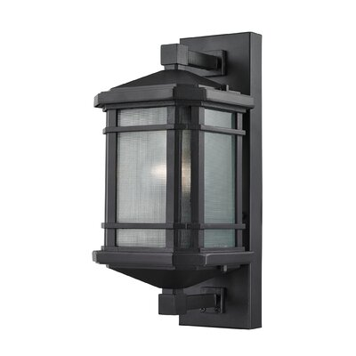 Lowell 1-Light Outdoor Wall lantern Size: 13 H x 6 W x 6 D