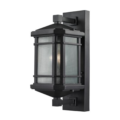 Lowell 1-Light Outdoor Wall lantern Size: 17 H x 7 W x 7 D