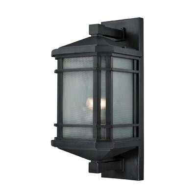 Lowell 1-Light Outdoor Wall lantern Size: 20 H x 9 W x 9 D