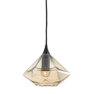 Trumbauer Geometrics 1-Light Mini Pendant Finish: Oil Rubbed Bronze