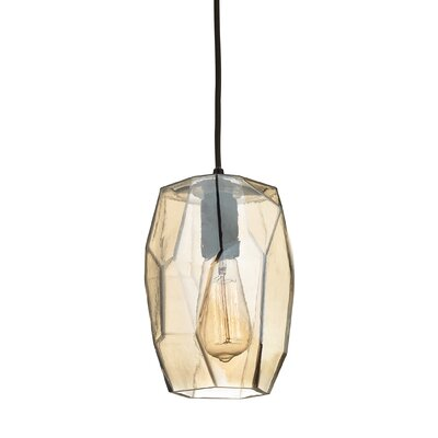 Minden Geometrics 1-Light Mini Pendant Finish: Oil Rubbed Bronze