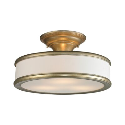 Clarkton 3-Light Semi Flush Mount Finish: Aged Silver