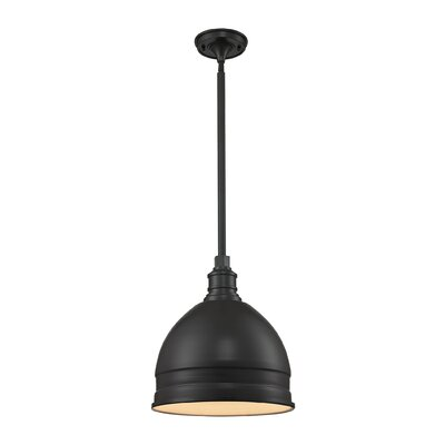 Carolton 1-Light Pendant Finish: Oil Rubbed Bronze, Shade Color: Oil Rubbed Bronze, Size: 14 H x 13 W x 13 D